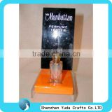 lady cosmetic tester display stand acrylic perfume display holder