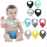 Bandana Baby Bib Set by Bambinio - 4 Unisex Design Drool Bibs for Boys and Girls
