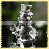 Exquisite Crystal Snowman Figurine For Valentine's Day Gifts
