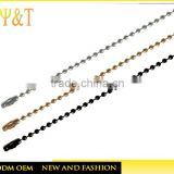 Fashion electroplating silver/black/gold small round stainless steel neck ball chains wholesale(SC-006)