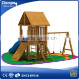 outdoor wooden slide / wooden slide playground for childrens / children play area equipment