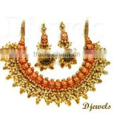 Jaipur Kundan Necklace Sets, 22K Gold Kundan Necklace Sets, Kundan Jewellery