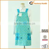 Wholesale Stain Resistant Fire Retardant Treated Customised BBQ Pinafore with sleeves Bib Apron Patterns