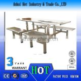 High Quality Restanrant Table Used For School Dining Aluminum Alloy Table And Bench Factory Price Dining Table