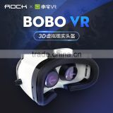 Newest ROCK VR BOX 3D Virtual Reality Movie Game Glasses For 4-6 inch Mobile Phone VR virtual reality 3D GLASSES