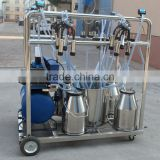JN-03 Motor Electric Gasoline Engine Mobile Milking Machine 4Buckets Vacuum Pump Portable Machine