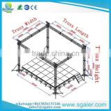 Aluminum spigot truss 6m high square flat roof exhibiton event truss for sale