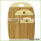 3 piece Bamboo cutting board set - Strong, Durable, No knife dull and Eco friendly/Homex_Factory