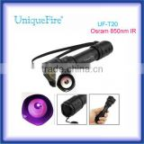 UniqueFire uf-t20 850nm IR Oslon black LED 3-Mode driver (Low-Mid-High) led hunting flashlight