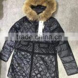 GZY down filled jacket warehouse guangzhou mixed coat winter anti-static cheap china stock 2017 good quality
