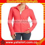 2014 OEM wholesale high qality casual zipper cotton slim fit women ladies blazer designs