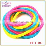 Fashion 50cm long telephone wire hair tie/hair band,telephone line bracelet for girls