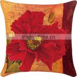 High Sales Hand Embroidery Flower Pattern Square Throw Pillow Cotton Cross Stitch Sets Beautiful Fabric And Thread