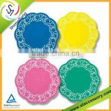 Eco--friendly colored lace paper doilies with all hot selling