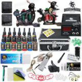 Popular Dragonhawk Tattoo Kit Set 14 Color Inks Power 2 Guns