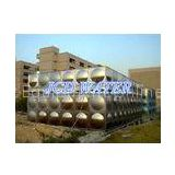 Vertical Domestic Sectional Water Tanks For Commercial , Bead Blasted Stainless Steel Water Tanks