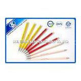 Silk Screen Printing kids 3 Colors recycled paper pencils red pink yellow 7.5 inch