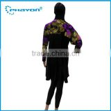 < OEM Service> new women spliced long sleeve Classic islamic Muslim dress islamic clothing
