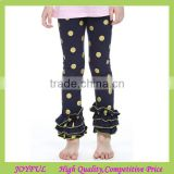Whoelsale Stripe Cotton Autumn Girl Outfits Ruffle Leggings