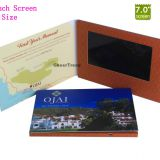 Customized 7 inch lcd advertising player with color printing
