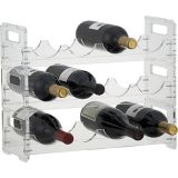Stackable Long Wine Racks Novelty Deluxe Wine Holder Bar Lucite Wine Display