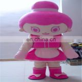 Lovely woman mascot costume/cartoon costume girl /people cartoon costume