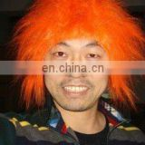 orange team sports wig,MOQ:50 pcs.Shipping time: 3 working days