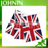 Indoor/Outdoor decorative polyester England bunting hanging string flag