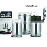Super beautiful round stainless steel dustbin