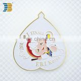 heart shaped cartoon image enamel gold plating laple pin