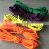 Cheap custom color round shoelaces blank wholesale
