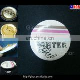Metal tin button for gifts