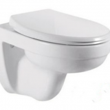 2018 hot selling ceramic wall mounted concealed water tank one piece p trap rimless toilet from chaozhou