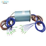 8 channels fiber optic rotary joint FORJ optical Electro Optical Slip Ring for Control Robot