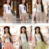 OEM hot sale new arrival fashion flower printed women chiffon micro mini skirts
