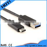 Highest speed 3ft 6ft black usb3.0 to type C cable