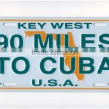 aluminium license plate bicycle plate metal license plate sign plate