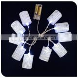 10LED battery operated christmas indoor light with diamond lantern factory wholesale in china