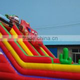 Car Inflatable Bounce House With car theme Inflatable Water Slide
