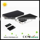 2014 hot business gift solar power phone charger 6000mAh two outputs solar usb charger