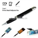 Mobile Phone 3 in 1 stylus pen power bank stylus pen touch screen for ios and andriod