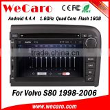 Wecaro WC-VL7061 Android 4.4.4 car multimedia system in dash for volvo s80 gps navigation android bluetooth 1998-2006