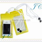 PVC mobile phone pouch with strawing/waterproof cell phone bag/promotional phone waterproof bag