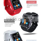 "2016 New 1.48"" TFT LCD Touch Screen Bluetooth U8 smart watch for Smartphones IOS Android Apple Stopwatch function hand free call"