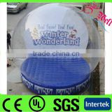 Hot sales! outdoor snow globe inflatable decorations clear ball for exhibition 4m diameter high quality PVC and PVC tarps