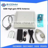 HOT SALE! UHF RFID reader 8dbi Antenna RS232/RS485/Wiegand Read 3-8M Integrative UHF RFID Reader+2 rfid Tags