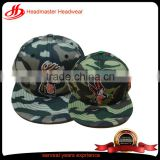 high quality custom 6 panel camo cotton embroidery snapback hat baby snapback cap