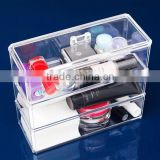 Luxury Clear Case Acrylic Cosmetic Jewelry Organizer with large drawer whole set