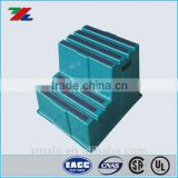 Green Anti-Skidding Plastic HDPE Material Handling Ladders for Industrial / Plastic two Steps Stools
