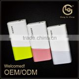 New design professional factory supply many colors mobile rohs power bank 2000mah/2600mah for samsung with led light